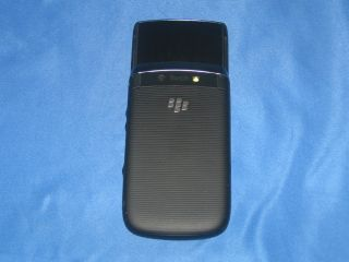 At T Blackberry Torch 9800 Black Rim Cell Phone PDA Good