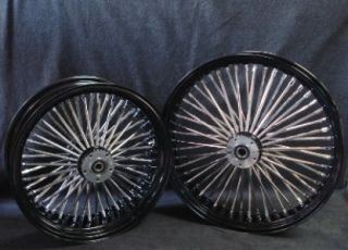 21x3 5 16x5 5 DNA Mammoth 52 Spoke Black Powder Coated Wheel Set for