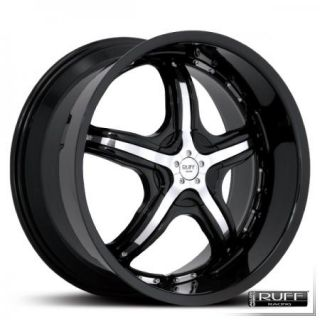 20 Black Ruff Racing 931 Wheels Rims Mustang 350Z Camaro Z28 Trans Am