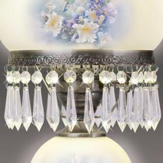 Glass Hurricane Lamp with Metal Alloy Rim and Filigree Design