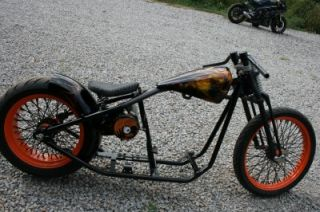 ROLLING CHASSIS, HARLEY PROJECT MOTORCYCLE, V TWIN ABANDONED BIKE, NEW