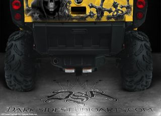 Can Am Commander 800 1000 Graphics Decals for Red Tailgate Inevitable