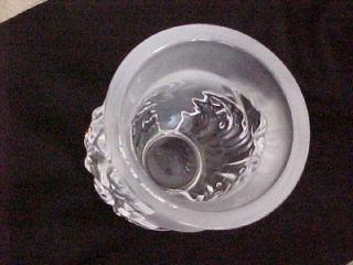 Lalique Frosted Art Glass Vase Acanthus Leaf Design Excellent
