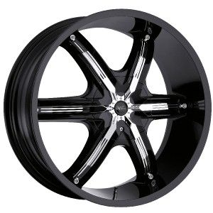 26 inch Milanni Belair 6 Black Wheels Rims 5x150 30