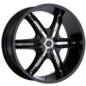 26 inch Milanni Belair 6 Black Wheels Rims 5x150 30