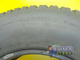 Goodyear Wrangler RT s M s 265 70 17 Used Tire No Patch 2657017 265
