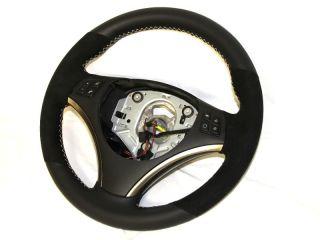 BMW E90 330i 325i 328i Extra Thick Steering Wheel Alcantara Cross