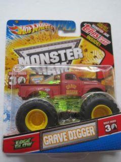 Hot Wheels Monster Jam Truck Topps Trading Card Edge Glow Grave Digger