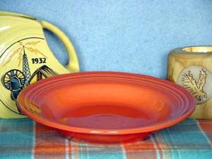Persimmon Fiesta® 9 Rim Soup Small Pasta Bowl 451 Liquidation Sale