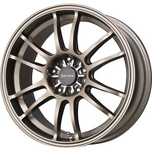 New 17x8 5x100 5x114 3 Drag Dr 38 Bronze Wheels Rims