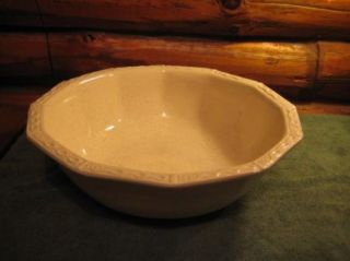 Vintage Large White Speckled McCoy Pottery Bowl 7517