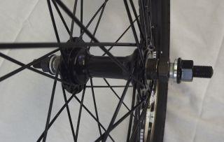New Alienation BMX Wheel Set Wheels Odyssey Tires 9 Tooth Sprocket BMX