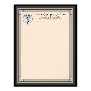 Chiropractic Chiropractor Letterhead