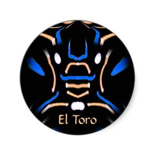 El Toro (The Bull) Sticker by KD   Great gift for the manly man