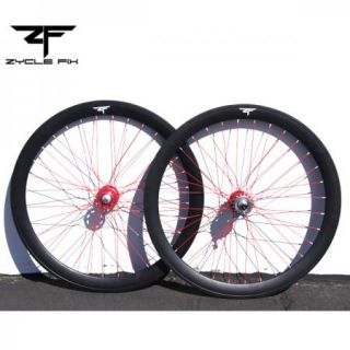 Matte Black Twisted Fixed Gear Fixie Bike 50mm Deep V Wheelset Wheel