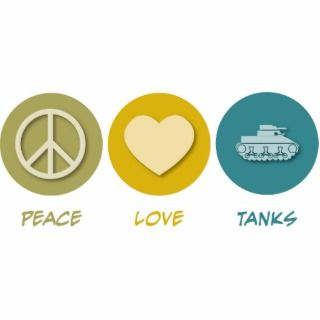 Peace Love Tanks Photo Cut Out