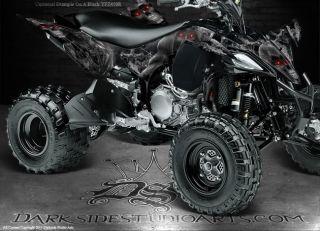 Yamaha YFZ450R YFZ450X 2009 Current ATV Graphics Inevitable Death