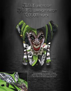 Arctic Cat F7 03 06 Black Hood Graphics Decals The Jesters Grin F5