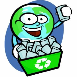 Animated earth recycling photo cut outs