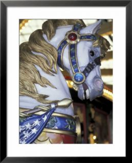 Horse on Carousel in Caras Park, Missoula, Montana, USA Pre made Frame