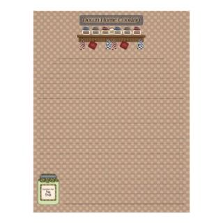 Down Home Cooking Recipe Pages (Lined) Letterhead Design