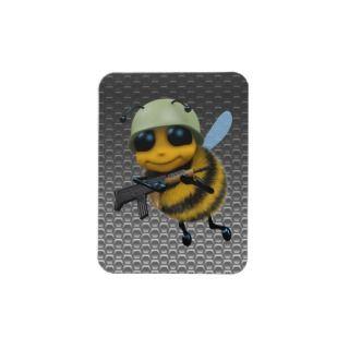 Cue 3d Bee Soldier Meallic Honeycomb Recangular Magne