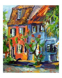 Houses on Chalmers Street Charleston South Carolina Giclee Print by Ginette Callaway
