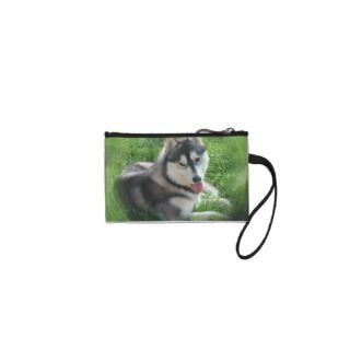 Siberian Husky Dog Coin Purse