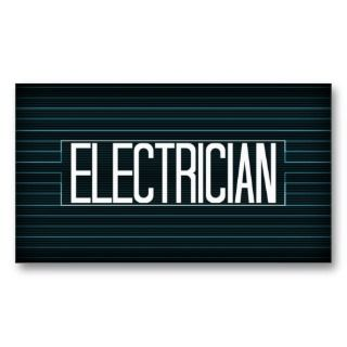 Business Cards, 114 Electrical Contractor Business Card Templates