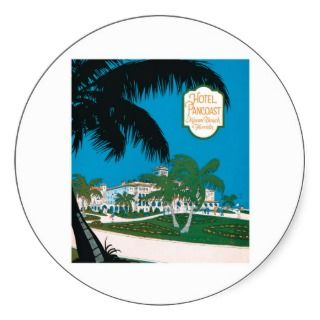 Vintage Hotel Pancoast Miami Beach Florida Ad Sticker