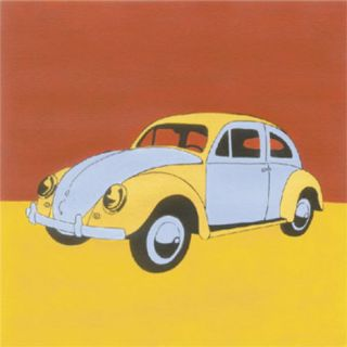 Yellow and Blue Volkswagon Bug Print