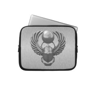 Modern Egyptian Scarab Laptop Sleeve
