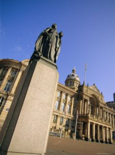Statue of Queen Victoria and Council House, Victoria Square, Birmingham, England, UK, ope Photographic Print by Neale Clarke