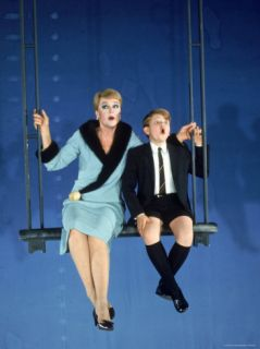 Angela Lansbury with Frankie Michaels in Role of Mame Premium Photographic Print by Bill Ray