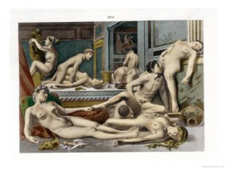 Ancient Times, from De Figuris Veneris by F.K Forberg, Engraved by the Artist, 1900 Giclee Print by Edouard henri Avril
