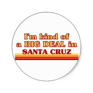 am kind of a BIG DEAL in Santa Cruz Stickers