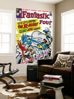 The Fantastic Four #28 Cover Mr. Fantastic Laminated Oversized Art by Jack Kirby