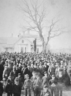 The Lynching of Frank Mcmanus in Minneapolis, 1882 Photographic Print
