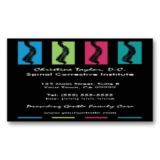 Colorful Chiropractic Business Cards