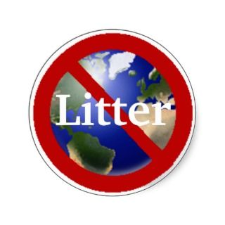 No Litter Allowed Sticker   Customized