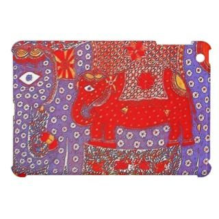 cute indian folk art elephants iPad mini cases