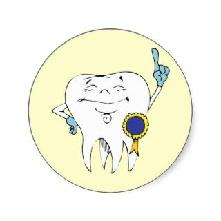 Dentist Checkup ~ Dental Dentist Denturist Round Stickers