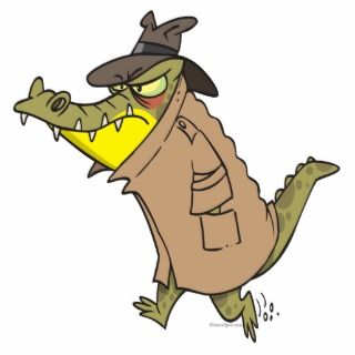 sneaky thug croc crocodile cartoon character photo cutouts