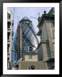The Gherkin, the Swiss Re Building, by Norman Foster, 30 St. Mary Axe, London, England Pre made Frame