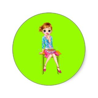 myspace candybardolls28 cute doll cartoon girl stickers