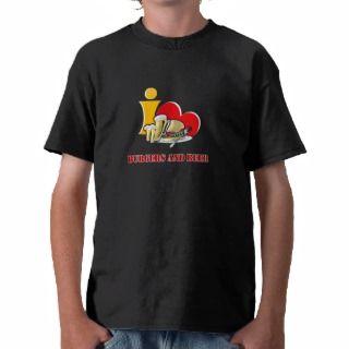 Love Burgers and Beer Ah the Hamburger Tee Shirts