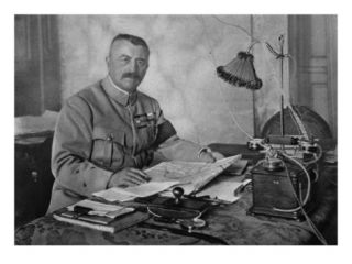 General Franchet DEsperey, Commander in Chief of the Allied Armies in the Balkans, 1914 19 Giclee Print