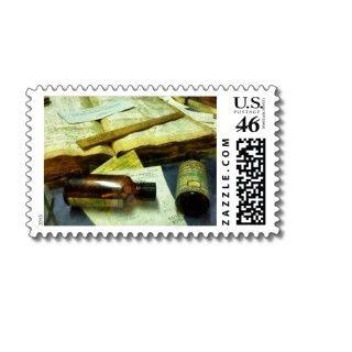 Prescriptions and Medicine Bottles Stamp
