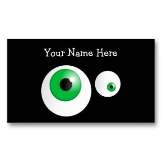 of a pair of funny cute cartoon green eyes staring out against