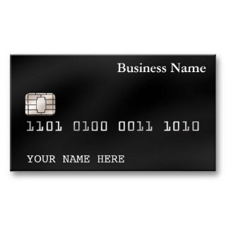 Credit Card style BUSINESS CARD (2 sided) black